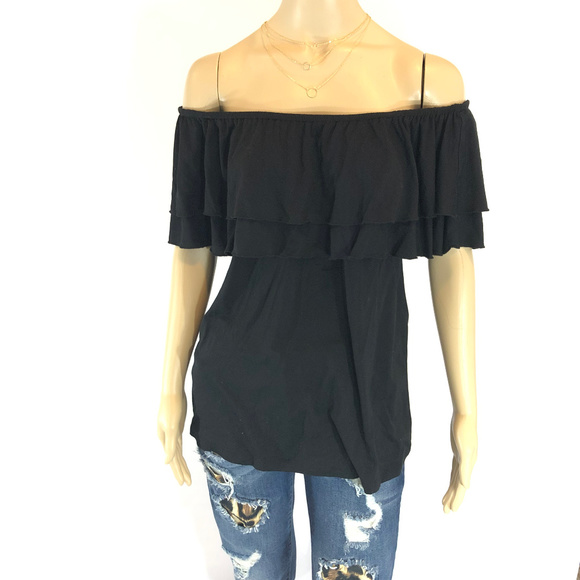 38eb4a35d4c Off-Shoulder Ruffled Tiered Shirt. NWT. Chelsea   Theodore